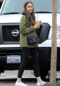 Lily Collins grabs coffee with her mother Jill Tavelman at Starbucks in West Hollywood, Los Angeles