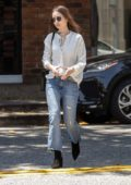 Lily Collins looks lovely while out for lunch at Il Piccolino in West Hollywood, Los Angeles
