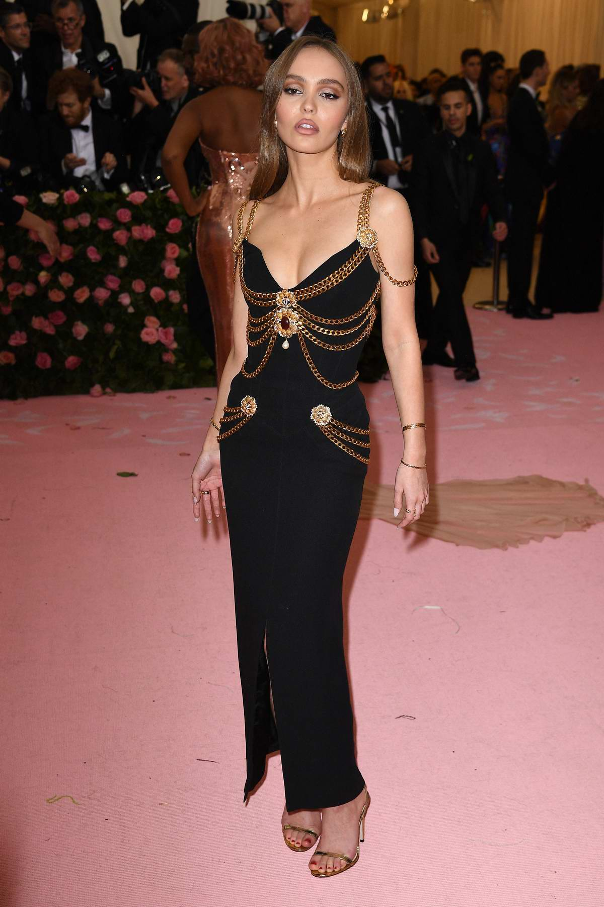 Lily-Rose Depp attends The 2019 Met Gala Celebrating Camp: Notes on Fashion in New York City