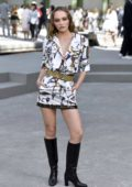 Lily-Rose Depp attends the Chanel Cruise Collection 2020 Photocall at the Grand Palais in Paris, France