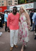 Lindsey Vonn and P.K. Subban attend the F1 Grand Prix of Monaco in Monte Carlo, Monaco