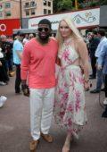 Lindsey Vonn and P.K. Subban attend the F1 Grand Prix of Monaco in Monte Carlo, Monaco