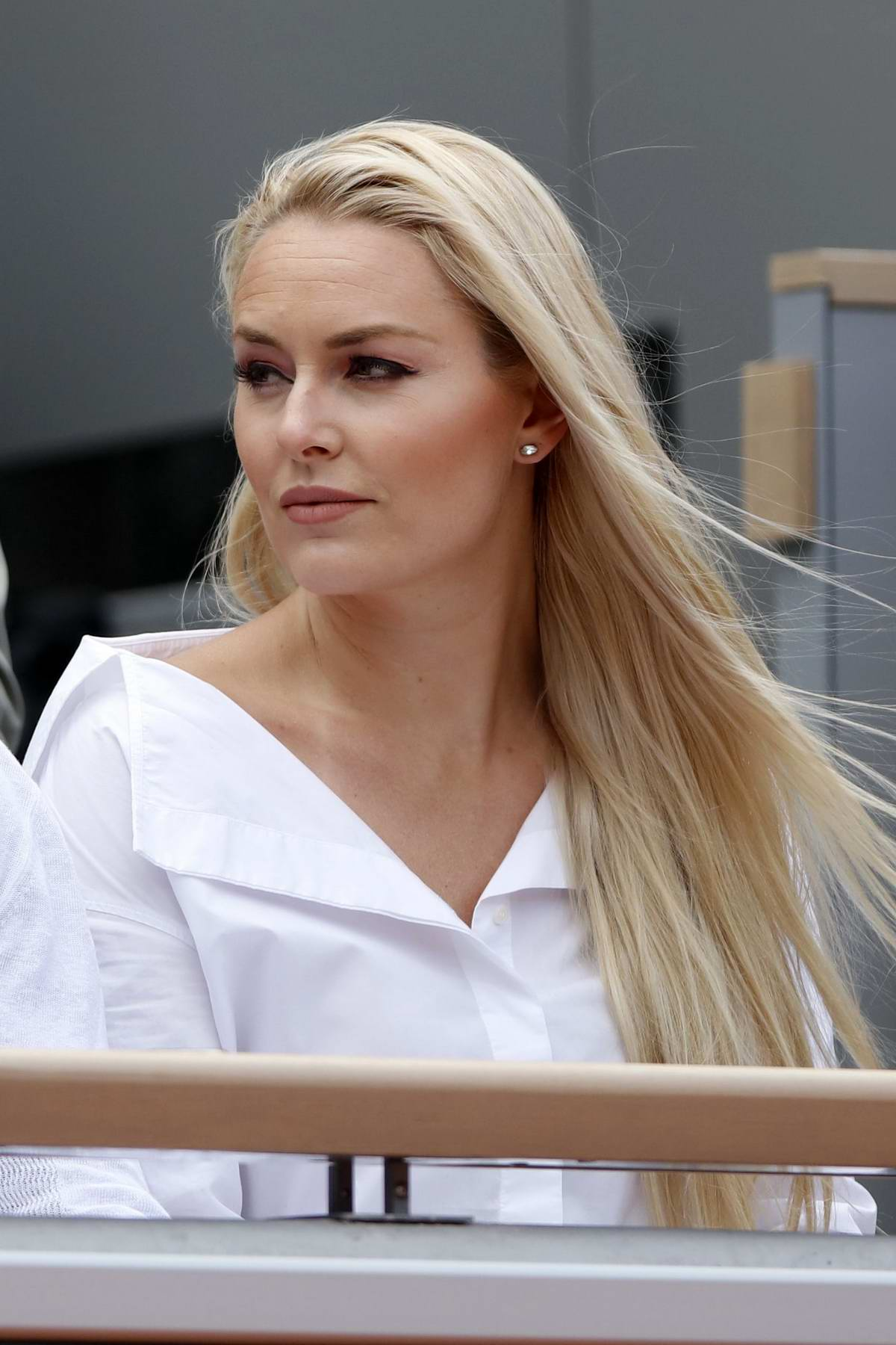 Lindsey Vonn and P.K. Subban spotted during French Open 2019 at Roland-Garros arena in Paris, France
