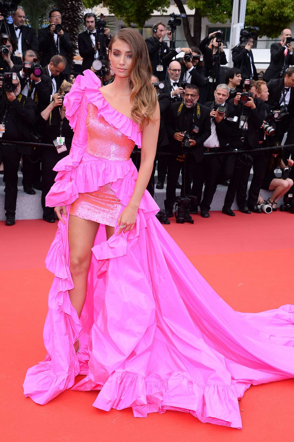 Lorena Rae attends the screening of 'Oh Mercy! (Roubaix, une Lumiere)' during the 72nd annual Cannes Film Festival in Cannes, France
