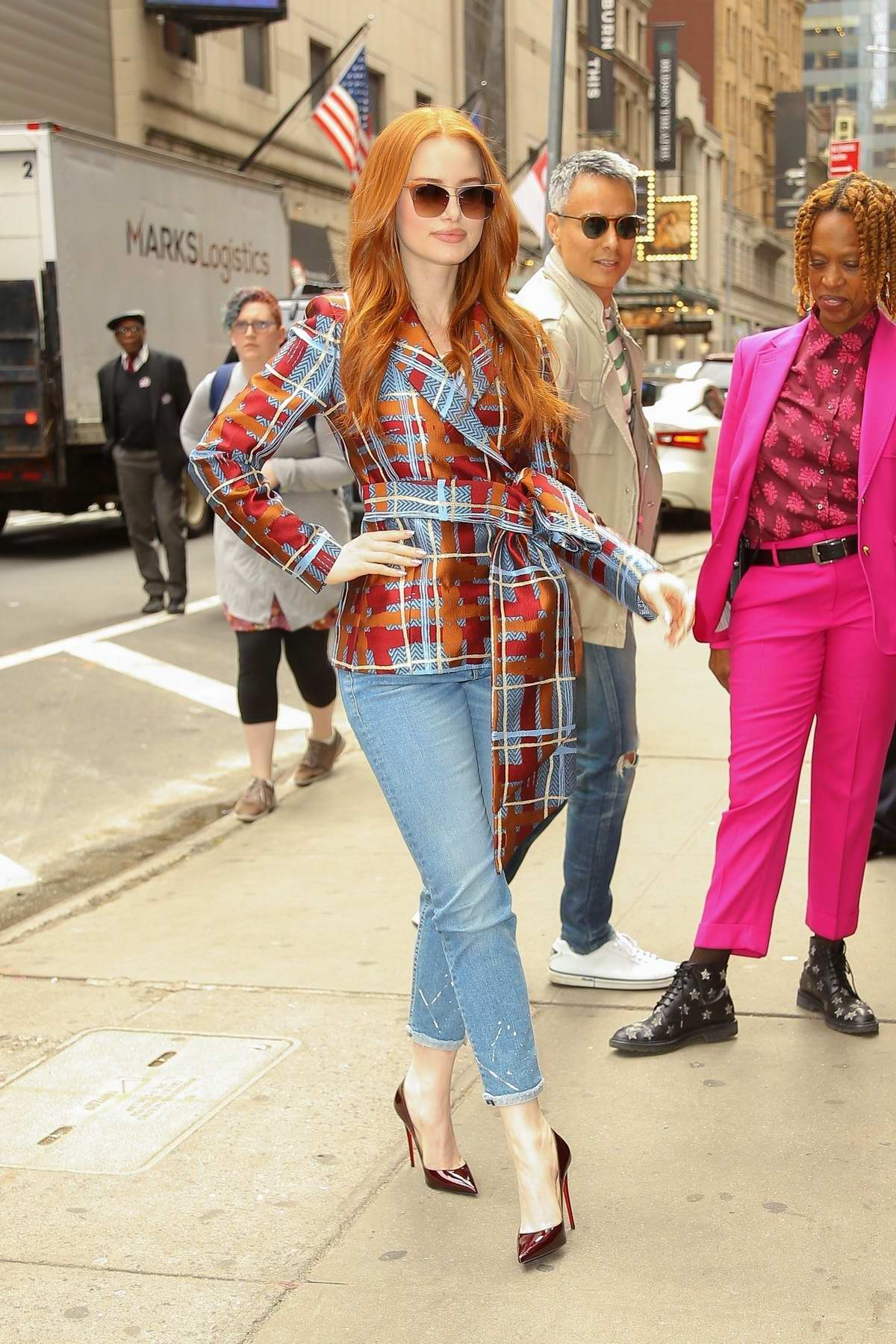 Madelaine Petsch arrives at Strahan & Sara to talk about the current season of 'Riverdale' in New York City