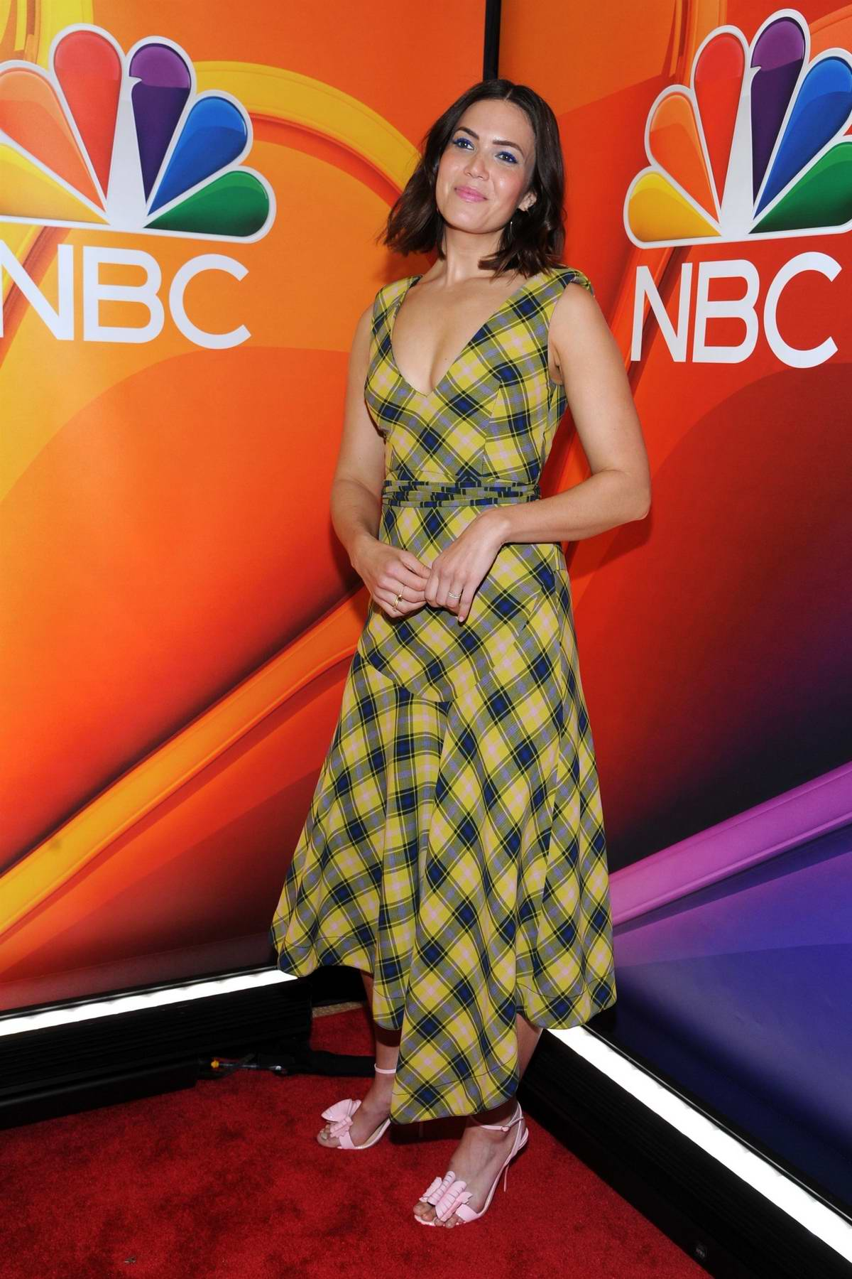 Mandy Moore attends the NBCUniversal Upfront Presentation at Four Seasons Hotel in New York City