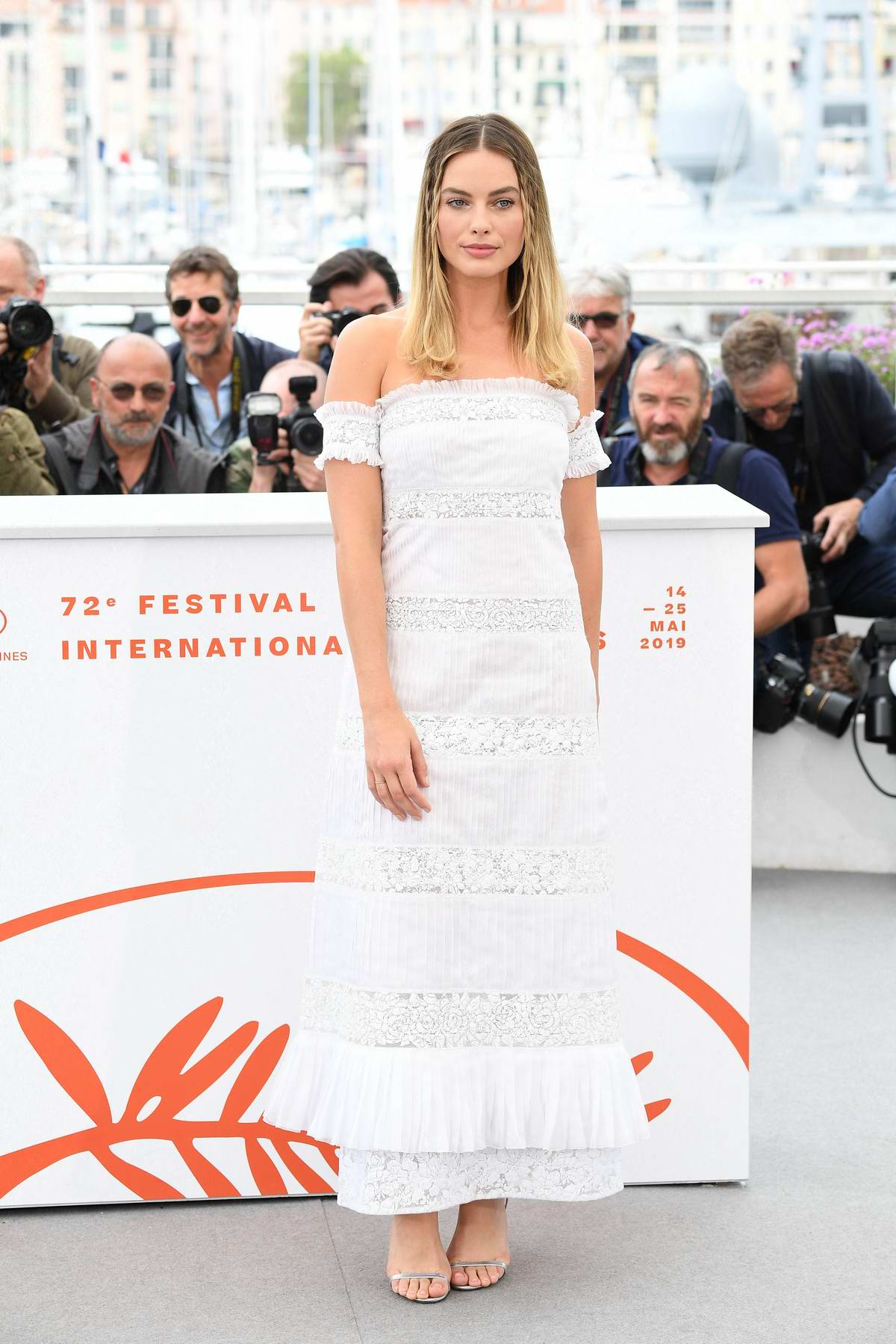 Margot Robbie attends 'Once Upon A Time In Hollywood' Photocall during the 72nd annual Cannes Film Festival in Cannes, France
