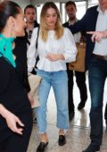 Margot Robbie keeps it casual as she arrives at Nice airport after attending the 72nd Cannes Film Festival, France