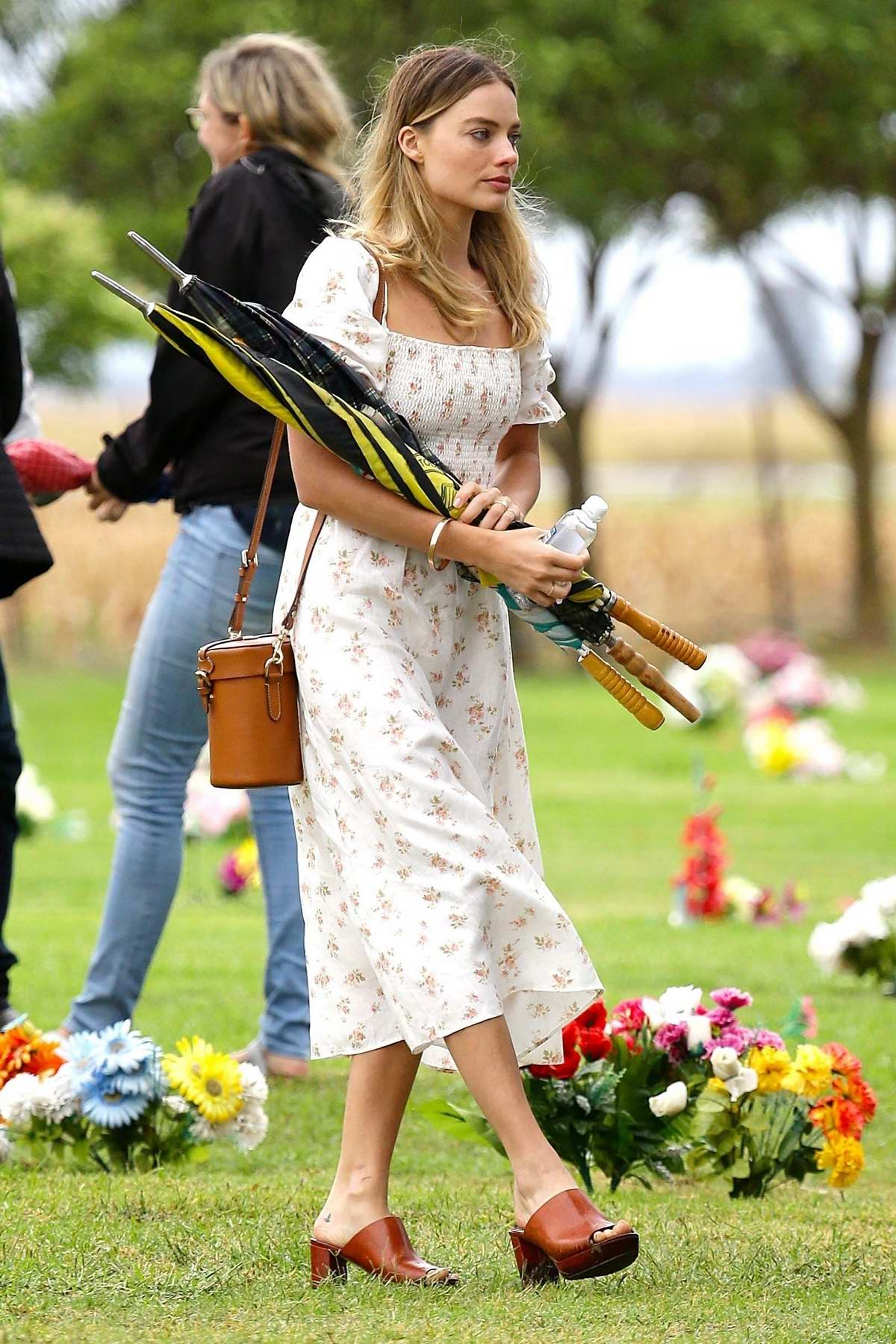 Margot Robbie spotted at the funeral of her Grandmother in Dalby, Queensland, Australia