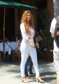Maria Menounos looks amazing in all-white as she steps out in Beverly Hills, Los Angeles