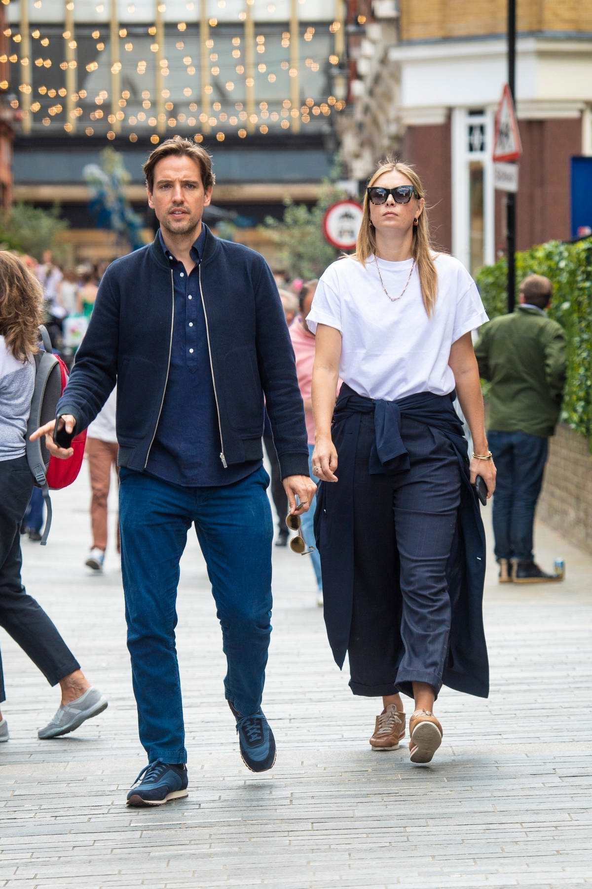 Maria Sharapova steps out for a stroll with boyfriend Alexander Gilkes in London, UK