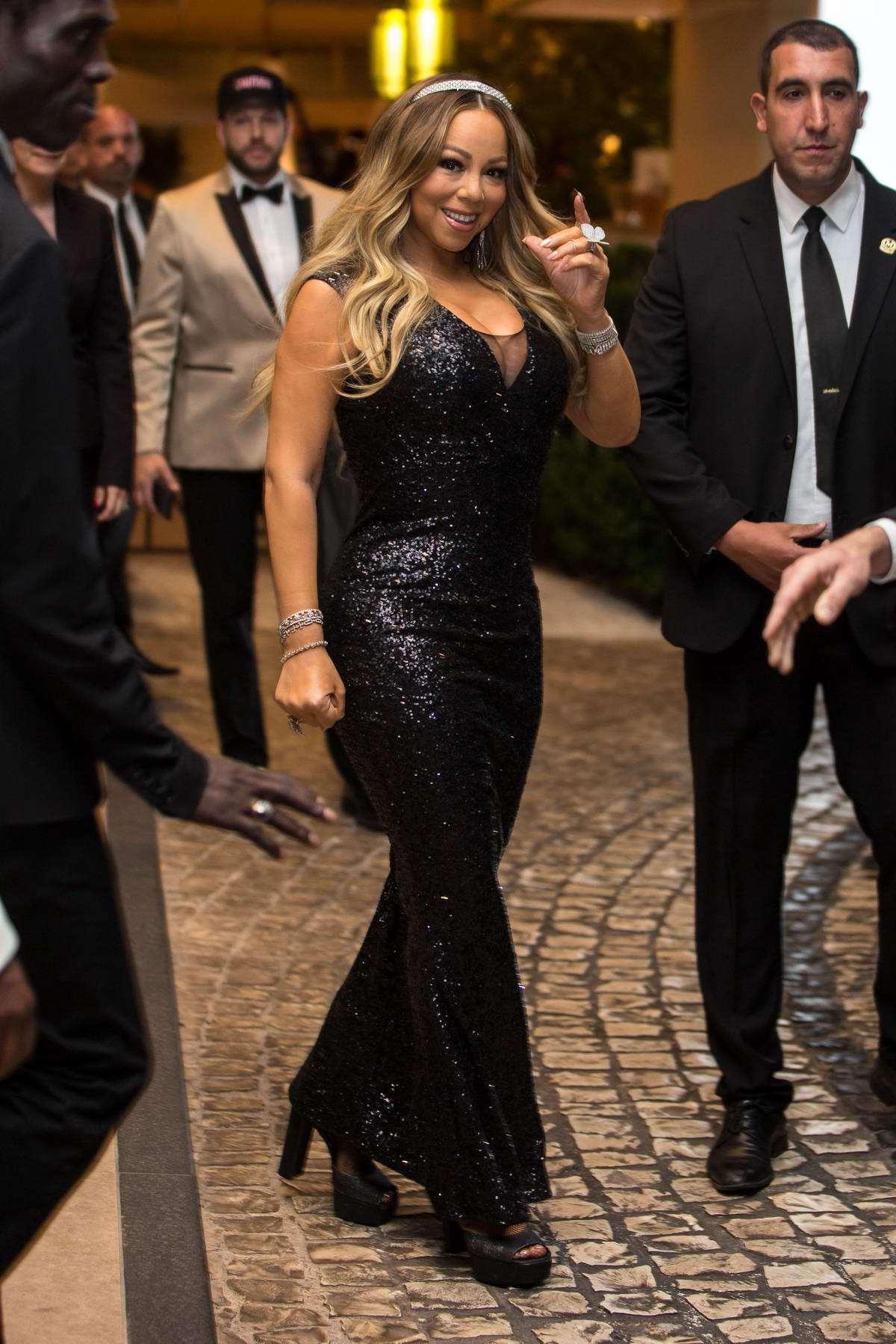 Mariah Carey seen leaving the Martinez Hotel during 72nd annual Cannes Film Festival in Cannes, France