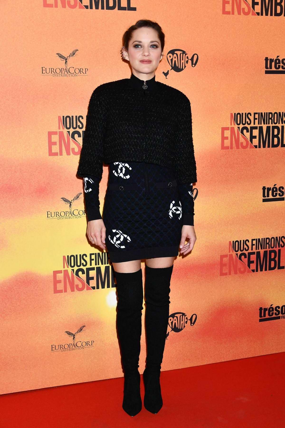 Marion Cotillard attends the Nous finirons ensemble Premiere at Cinema Gaumont Capucines in Paris, France