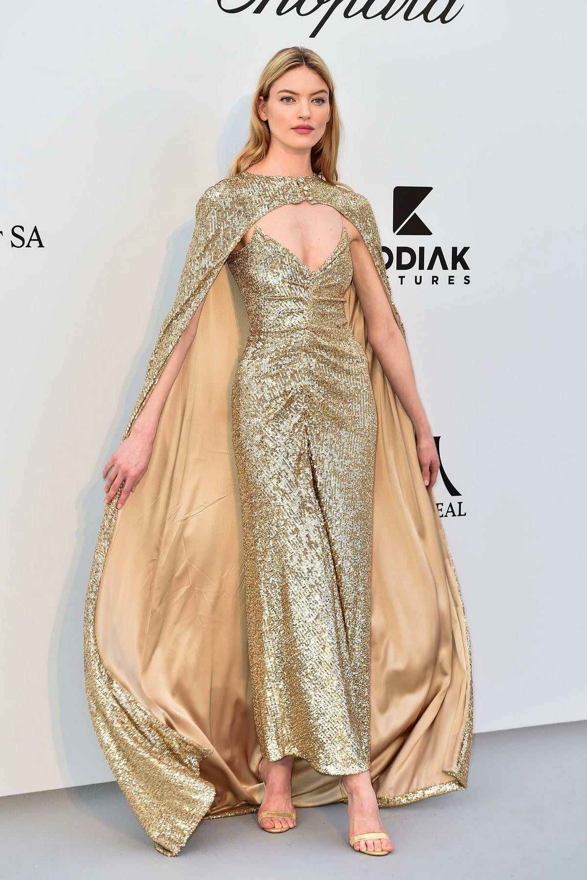 Martha Hunt attends the 26th amfAR Gala held at Hotel du Cap-Eden-Roc during the 72nd annual Cannes Film Festival in Cannes, France
