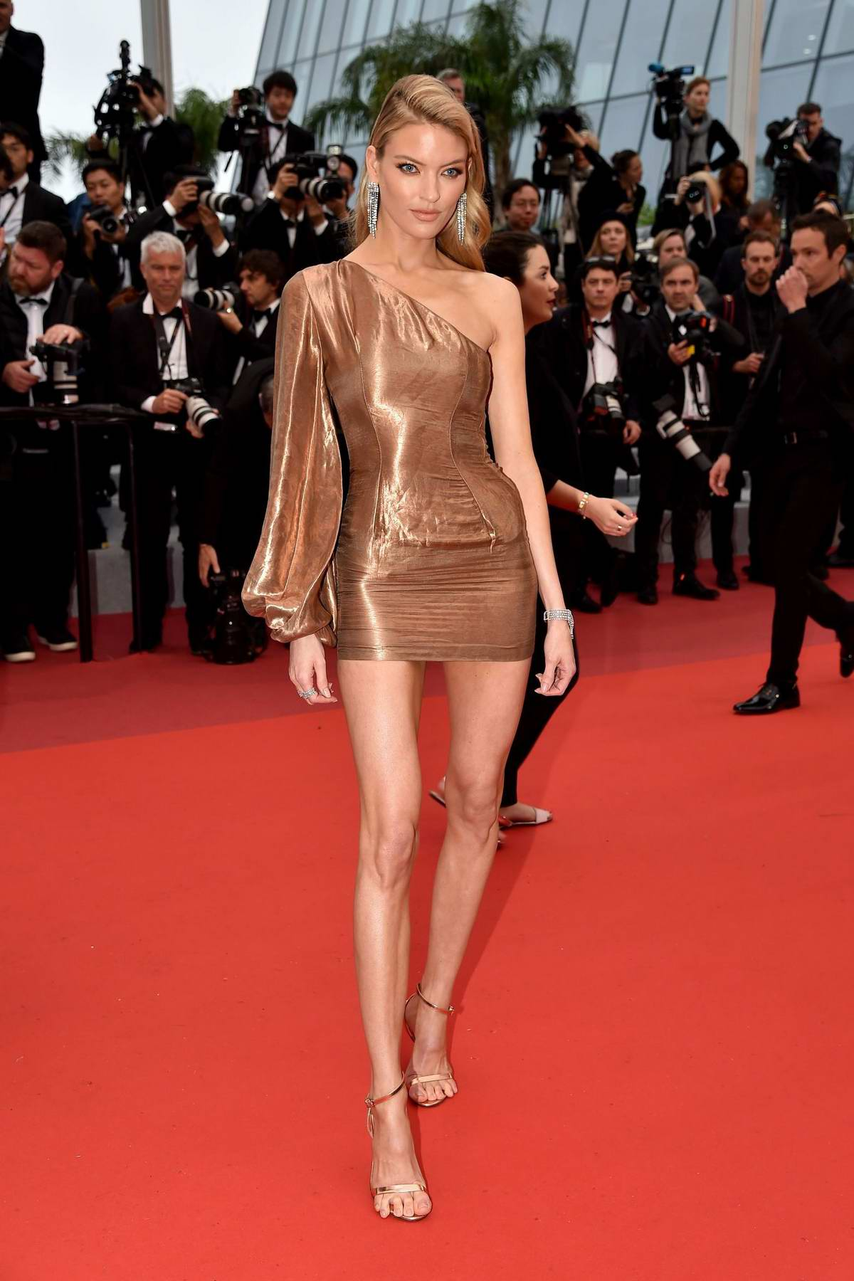 Martha Hunt attends the screening of 'Les Plus Belles Annees D'Une Vie' during the 72nd annual Cannes Film Festival in Cannes, France