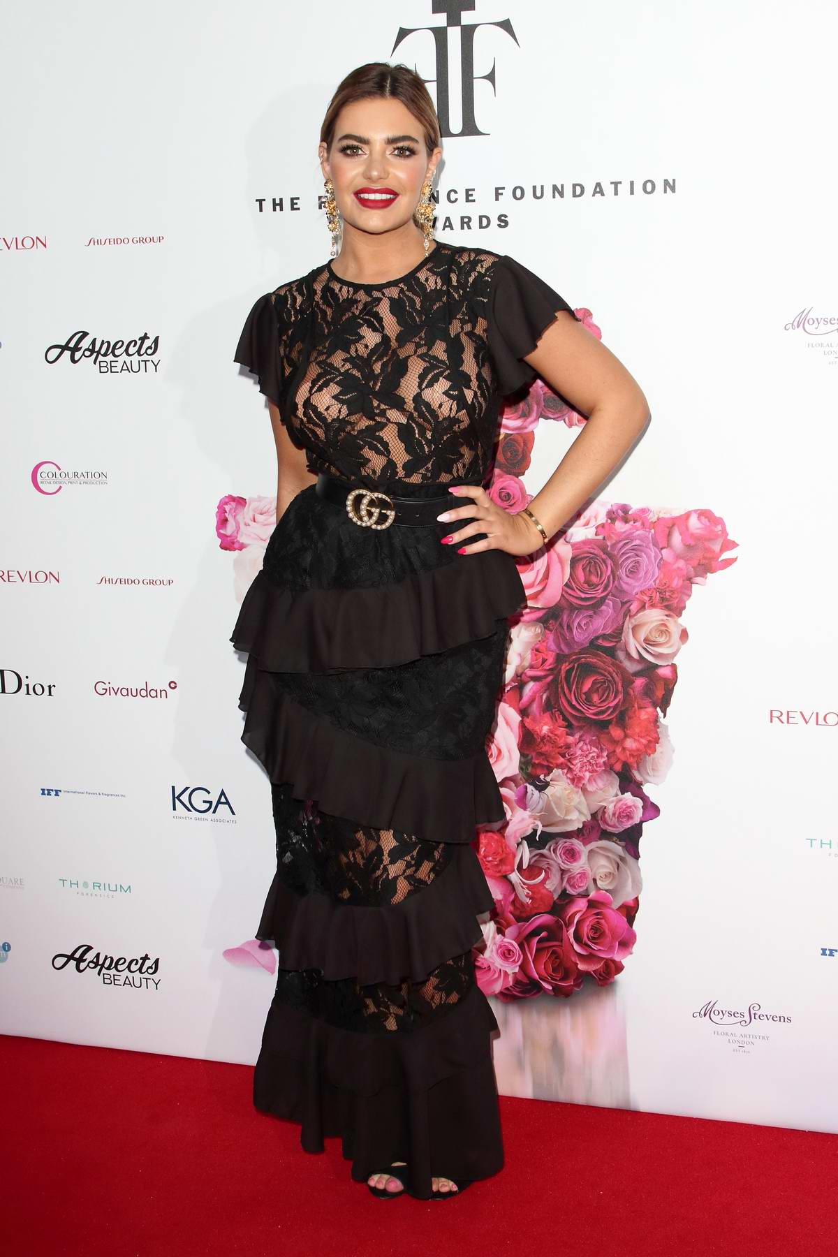 Megan Barton-Hanson attends the FiFi Fragrance Foundation Awards in London, UK