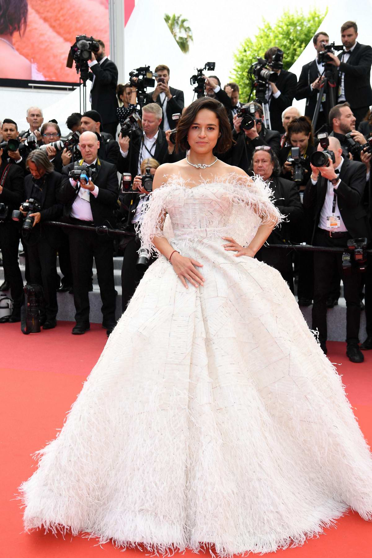 Michelle Rodriguez attends the screening of 'Once Upon A Time In Hollywood' during the 72nd annual Cannes Film Festival in Cannes, France