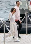 Michelle Rodriguez dons all white as she leaves the Cap Eden Roc Hotel in Cannes, France