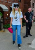 Miley Cyrus rocks Chanel as she leaves a hair salon in New York City