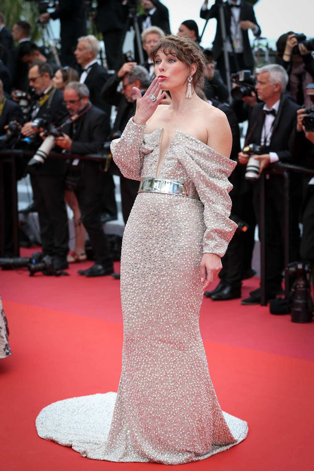 Milla Jovovich attends the screening of 'Sibyl' during the 72nd annual Cannes Film Festival In Cannes, France