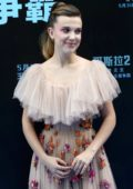 Millie Bobby Brown attends 'Godzilla: King Of The Monsters' Press Conference in Beijing, China