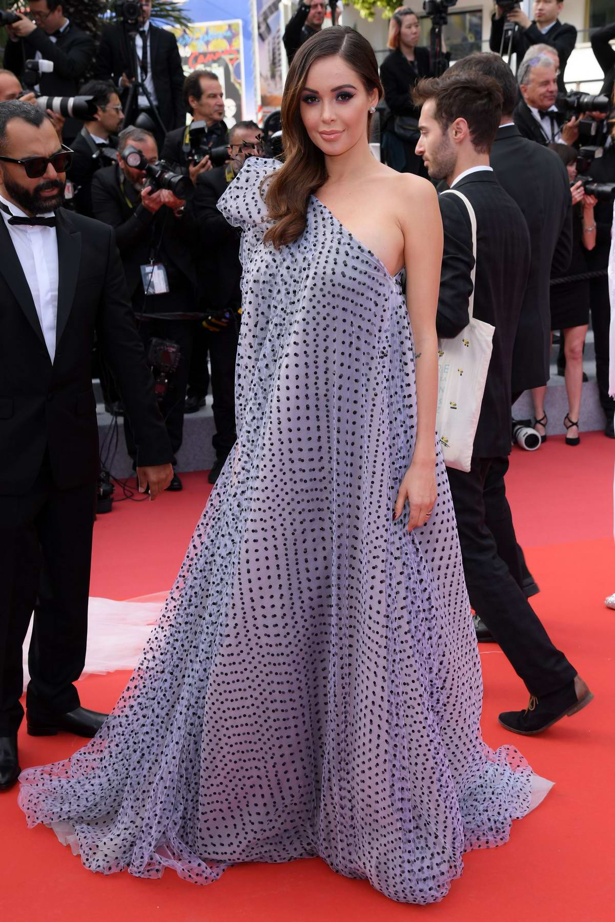 Nabilla Benattia attends the screening of 'Oh Mercy! (Roubaix, une Lumiere)' during the 72nd annual Cannes Film Festival in Cannes, France
