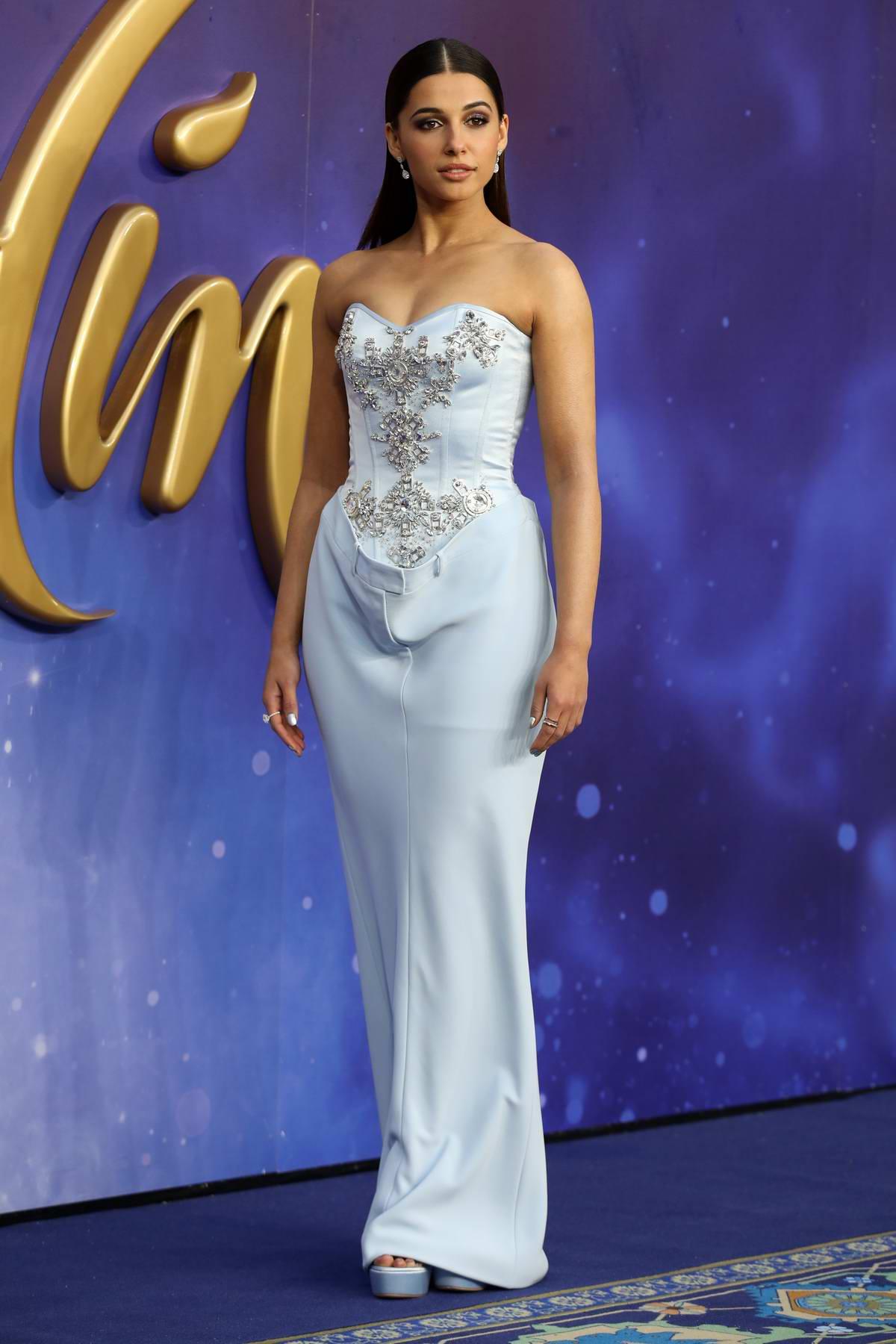 Naomi Scott Attends The European Premiere Of Aladdin At