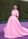 Naomi Scott attends the World Premiere of Disney's 'Aladdin' at the El Capitan Theater in Hollywood, California