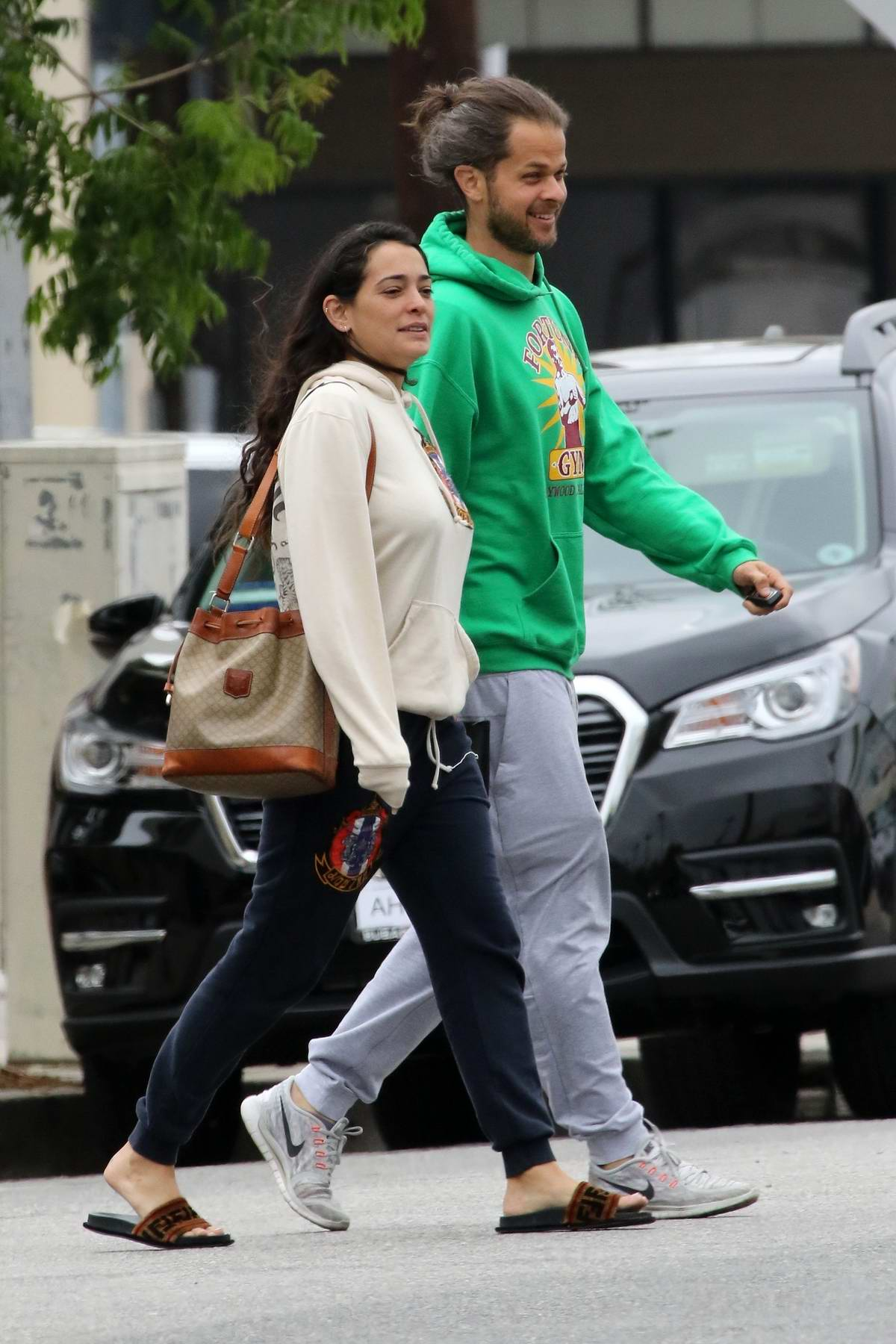 Natalie Martinez grabs lunch with a friend at Joan's on Third in Los Angeles