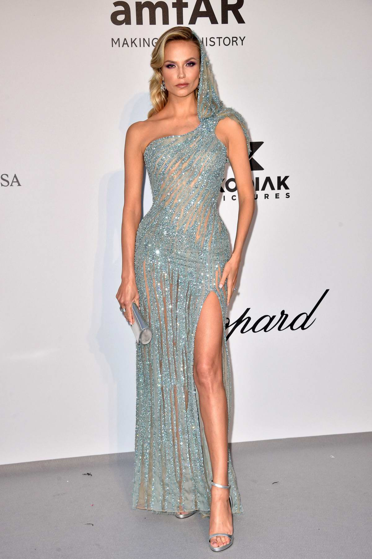 Natasha Poly attends the 26th amfAR Gala held at Hotel du Cap-Eden-Roc during the 72nd annual Cannes Film Festival in Cannes, France
