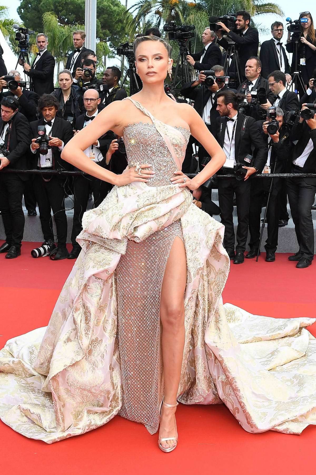 Natasha Poly attends the screening of 'Oh Mercy! during the 72nd annual Cannes Film Festival in Cannes, France