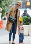 Nicky Hilton enjoys a stroll with her daughter in New York City