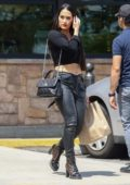 Nikki Bella flaunts her toned midriff as she steps out for some grocery shopping in Los Feliz, California