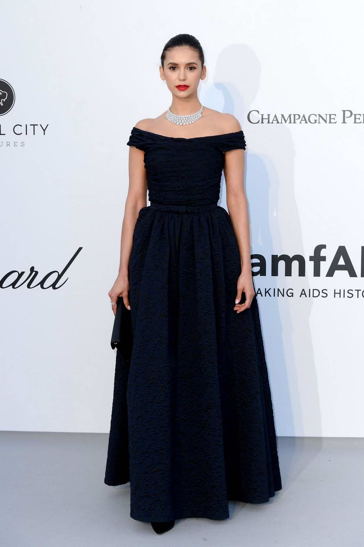 Nina Dobrev attends the 26th amfAR Gala held at Hotel du Cap-Eden-Roc during the 72nd annual Cannes Film Festival in Cannes, France