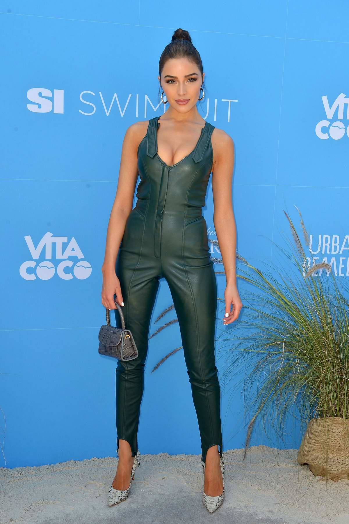 Olivia Culpo attends the '2019 Sports Illustrated Swimsuit On Location' at Ice Palace Film Studios in Miami, Florida