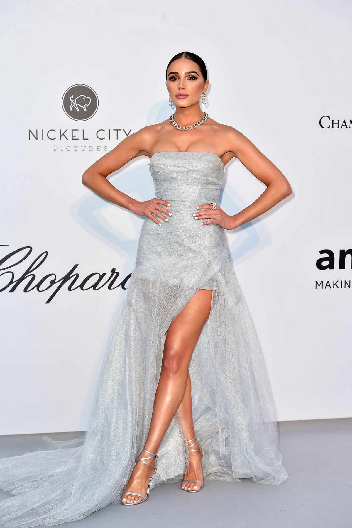 Olivia Culpo attends the 26th amfAR Gala held at Hotel du Cap-Eden-Roc during the 72nd annual Cannes Film Festival in Cannes, France