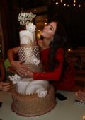Olivia Culpo celebrates her birthday with friends at Swan in Miami, Florida