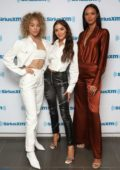 Olivia Culpo, Lais Ribeiro and Jasmine Sanders visit the SiriusXM Studios in New York City