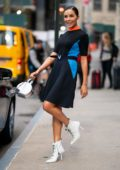 Olivia Culpo wears Louis Vuitton while out in Tribeca, New York City