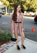 Olivia Sanabia attends Hayley Orrantia's New EP Release Party at The Harmonist in West Hollywood, Los Angeles