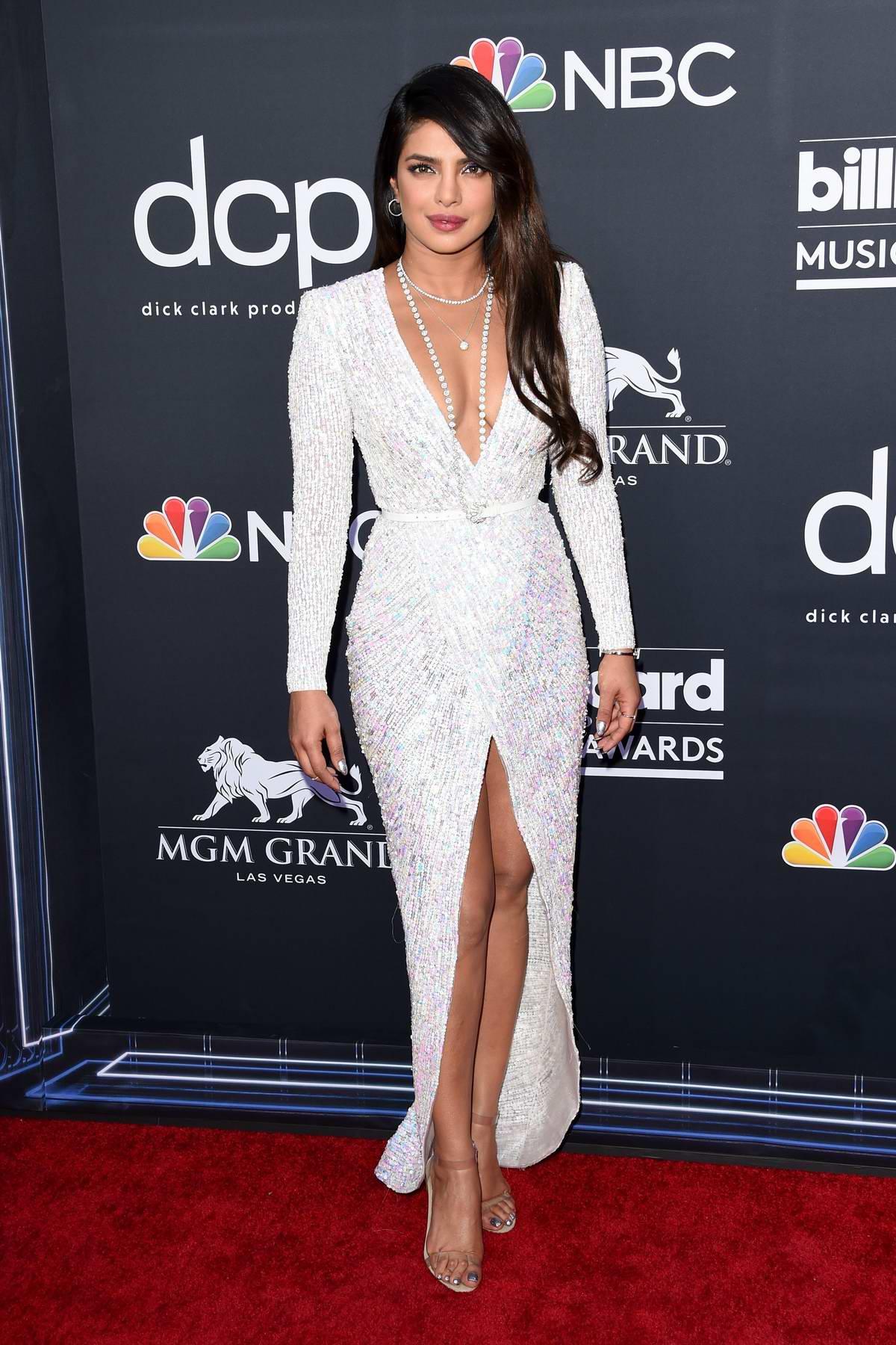 Priyanka Chopra attends the 2019 Billboard Music Awards at MGM Grand Garden Arena in Las Vegas, Nevada