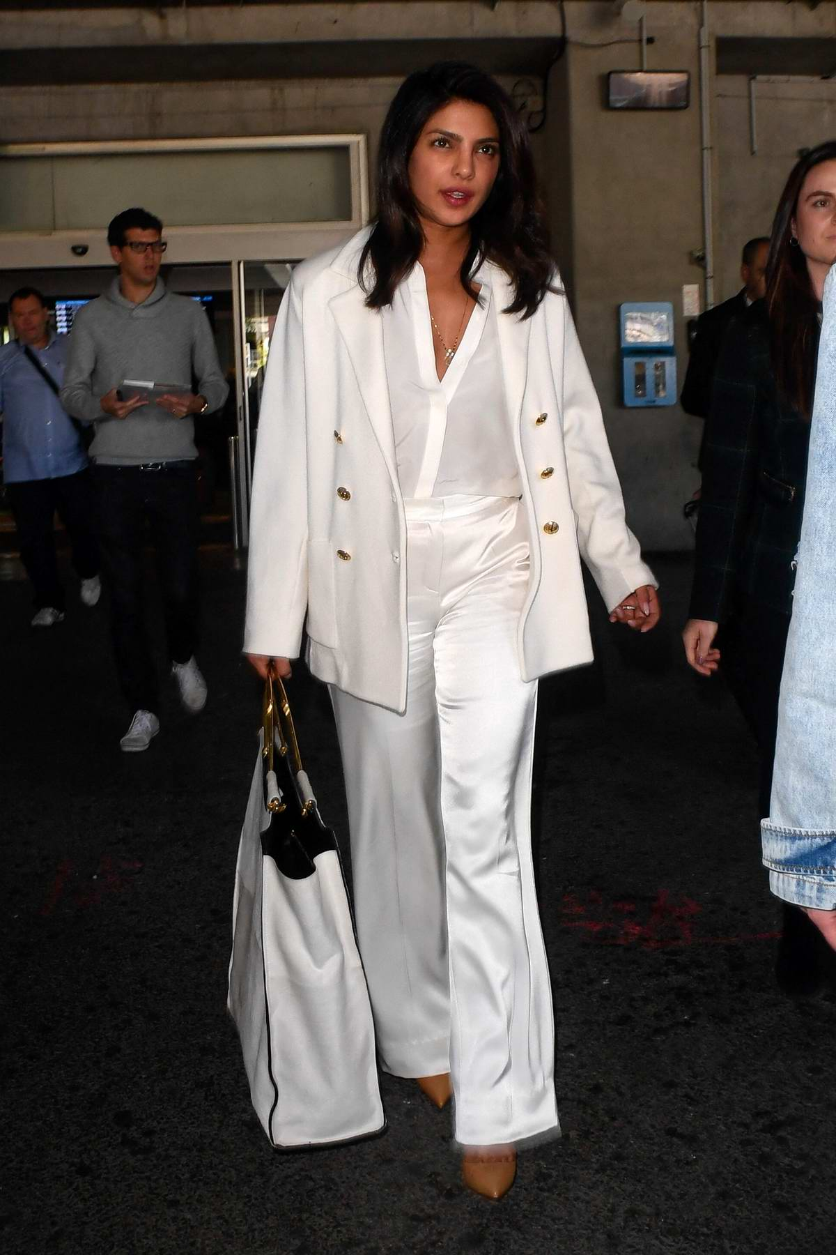 Priyanka Chopra touches down at Nice Airport for the 72nd annual Cannes Film Festival, France