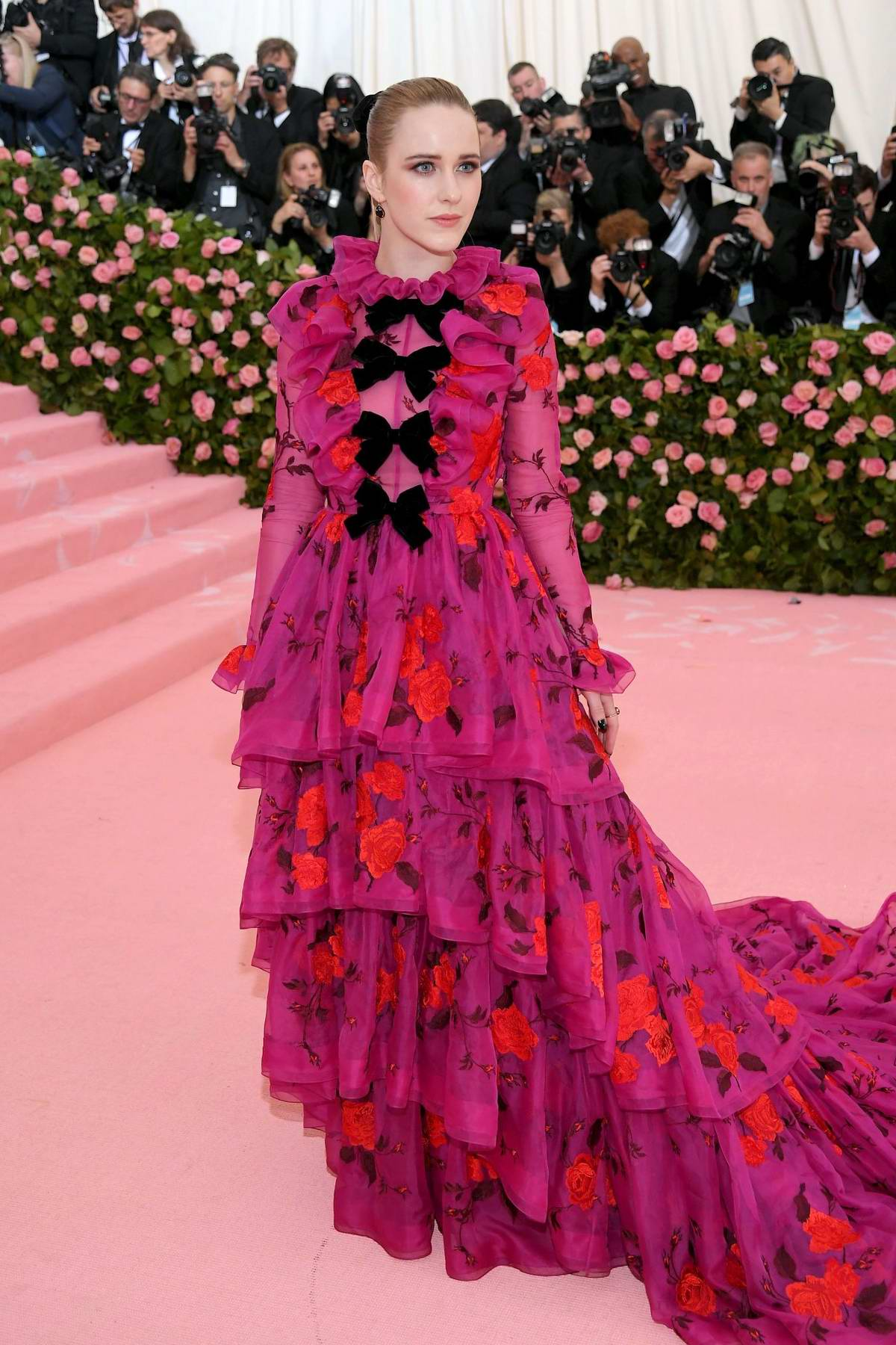 Rachel Brosnahan attends The 2019 Met Gala Celebrating Camp: Notes on Fashion in New York City