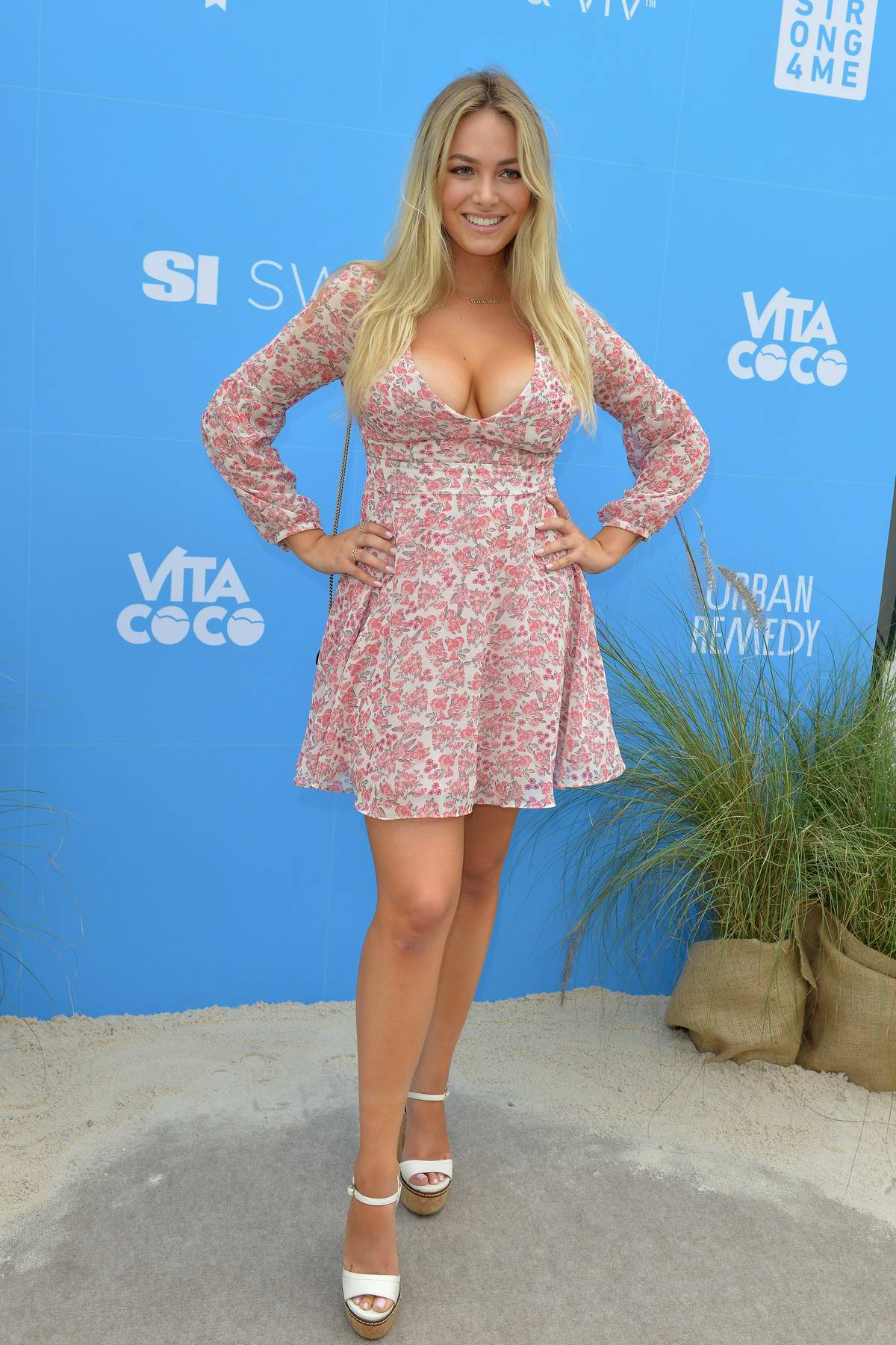Raine Michaels attends the '2019 Sports Illustrated Swimsuit On Location' at Ice Palace Film Studios in Miami, Florida