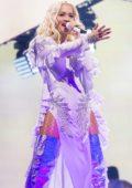 Rita Ora performs live at Liverpool M&S Bank Arena in Liverpool, UK