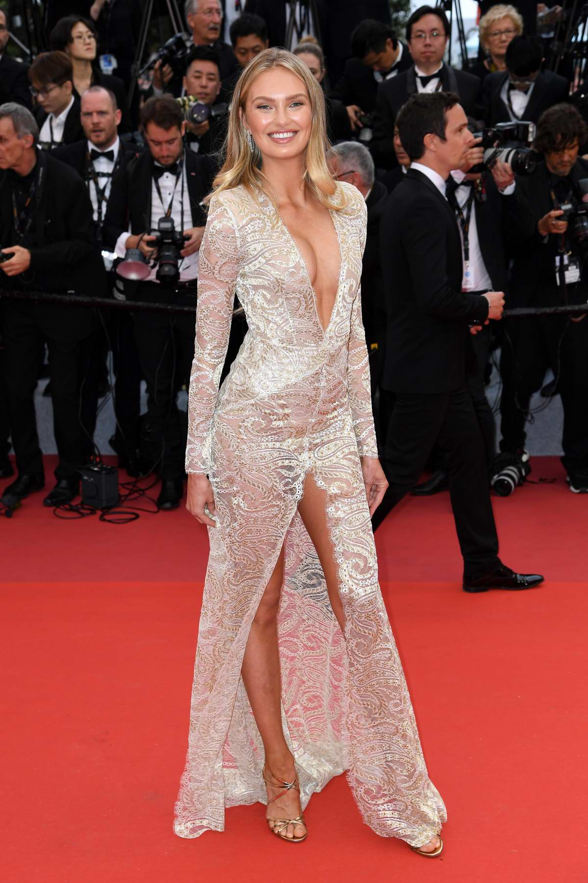 Romee Strijd attends 'The Dead Don't Die' Premiere during The 72nd annual Cannes Film Festival in Cannes, France