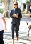 Rosie Huntington-Whiteley looks stylish in blue ensemble as she stops off for coffee in Surry Hills, Sydney, Australia