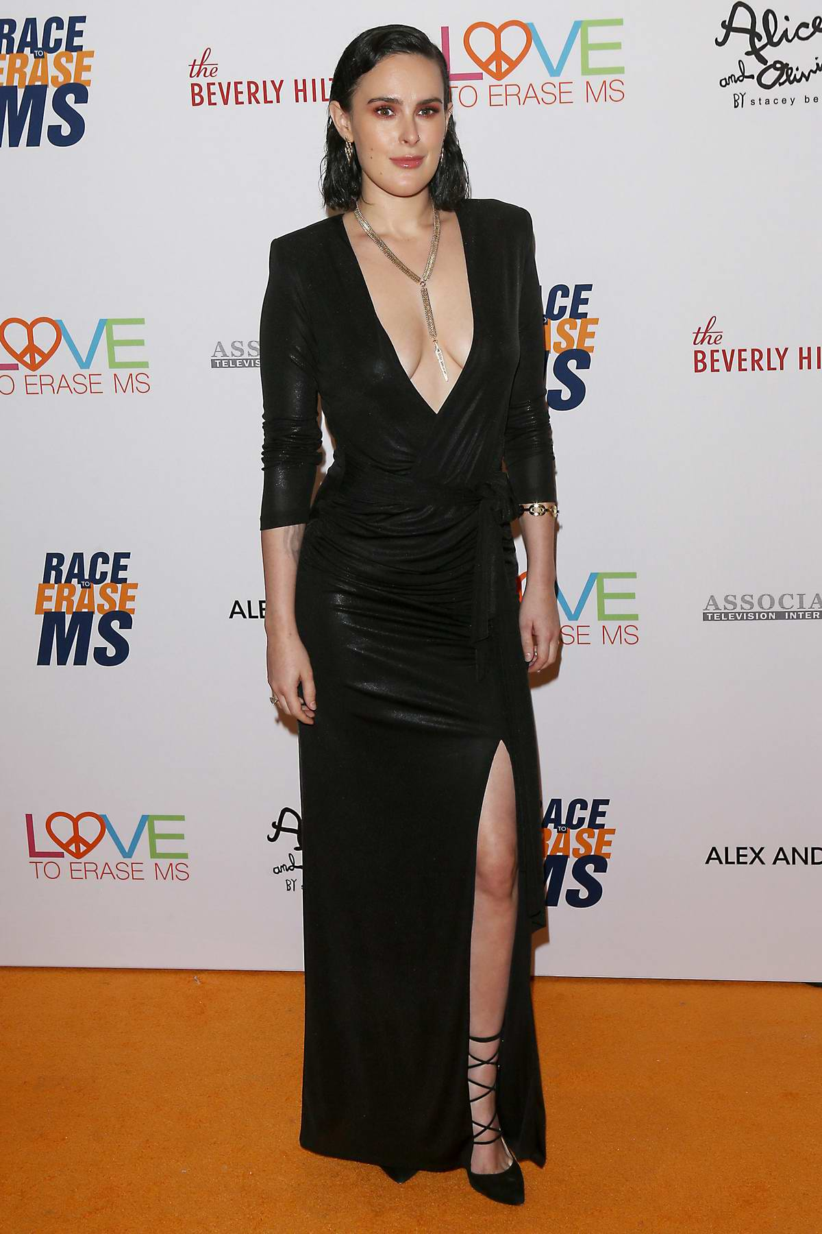 Rumer Willis attends the 26th Annual Race to Erase MS GALA held at the Beverly Hilton Hotel in Beverly Hills, Los Angeles
