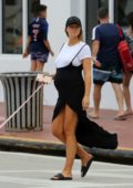 Samantha Hoopes and fiancé Salvatore Palella steps out for a stroll in Miami Beach, Florida
