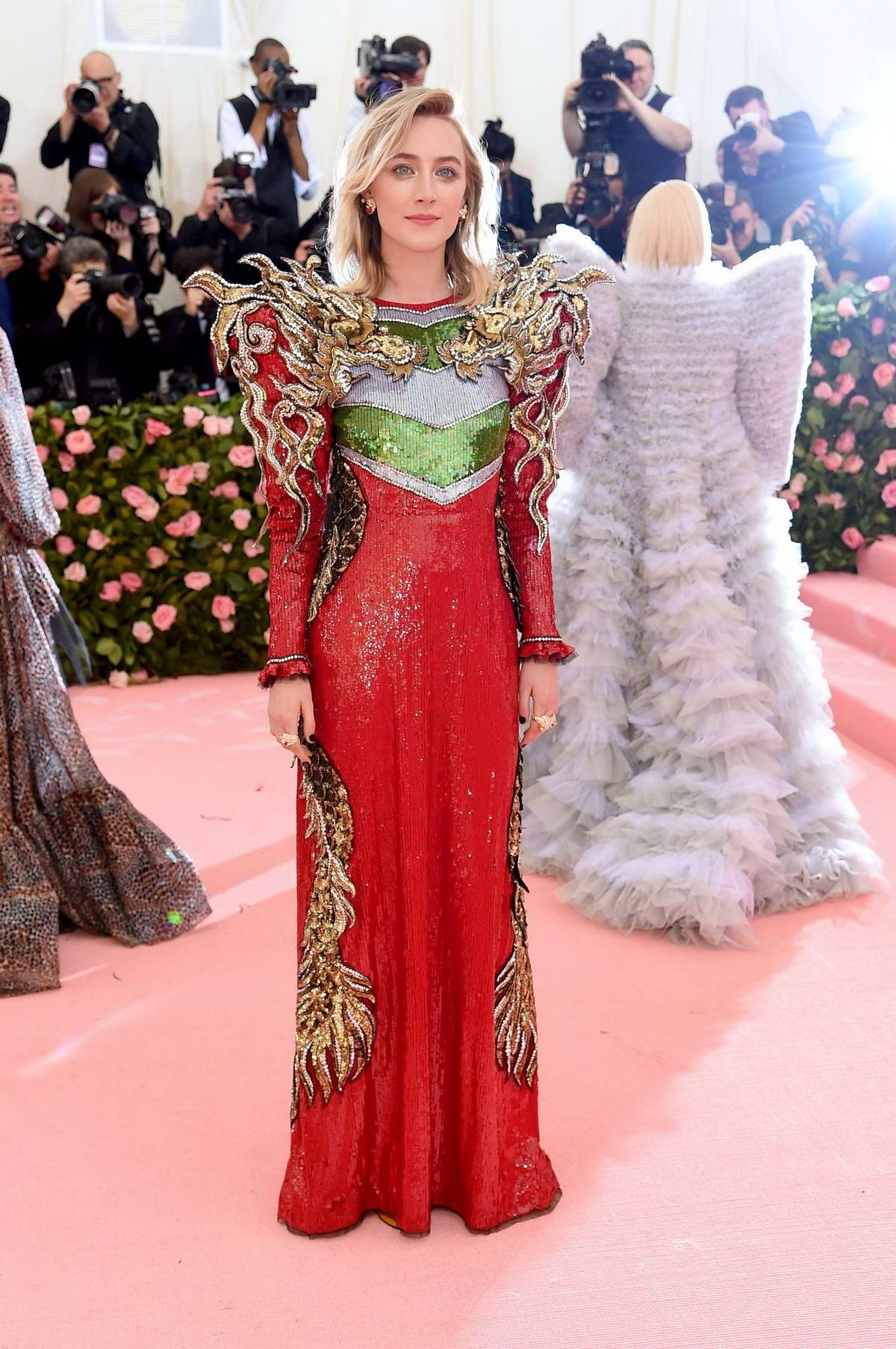 Saoirse Ronan attends The 2019 Met Gala Celebrating Camp: Notes on Fashion in New York City